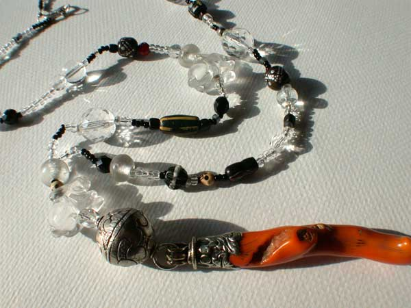 Crystal and Coral necklace